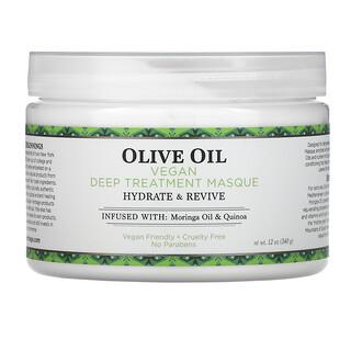 Nubian Heritage, Olive Oil, Vegan Deep Treatment Masque, 12 oz (340 g)