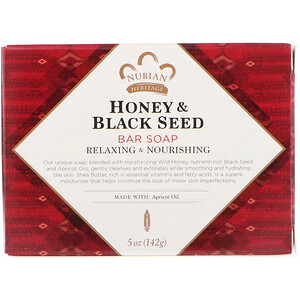 Нубиан Херитадж, Honey & Black Seed Bar Soap, 5 oz (142 g) отзывы
