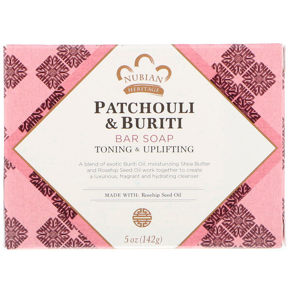 Nubian Heritage, Patchouli & Buriti Bar Soap, 5 oz (141 g)