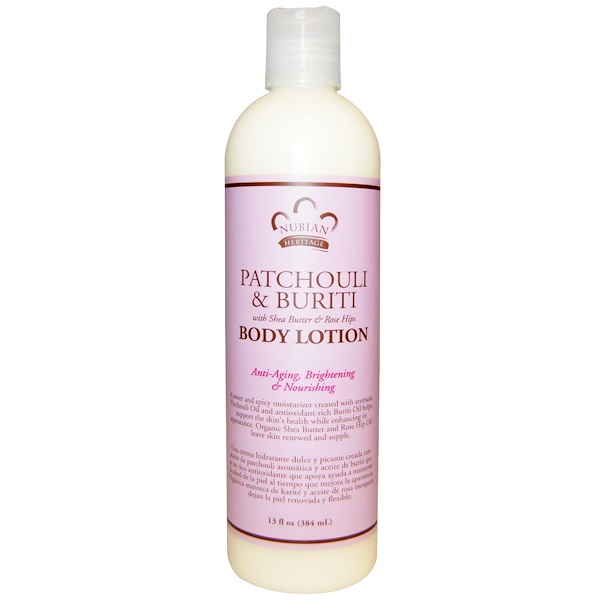 Nubian Heritage, Body Lotion, Patchouli & Buriti, 13 fl oz (384 ml)