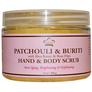 Nubian Heritage, Hand & Body Scrub, Patchouli & Buriti, with Shea Butter & Rose Hips, 12 oz (340 g)