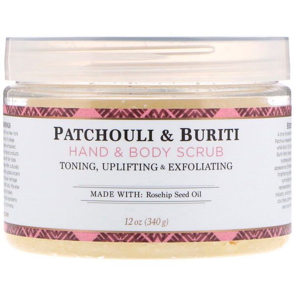 Hand & Body Scrub, Patchouli & Buriti, 12 oz (340 g)