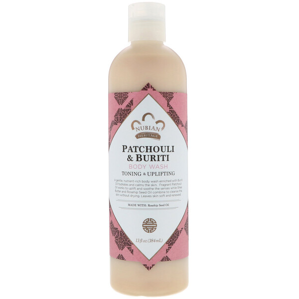 Body Wash, Patchouli & Buriti, 13 fl oz (384 ml)