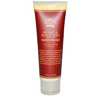 Nubian Heritage, Hand Cream, Honey & Black Seed with Apricot Oil, 4 fl oz (118 ml)