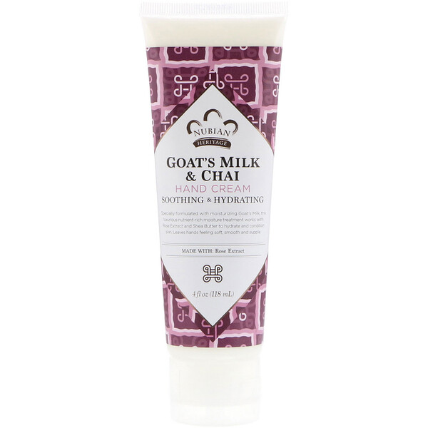 Hand Cream, Goat's Milk & Chai, 4 fl oz (118 ml)