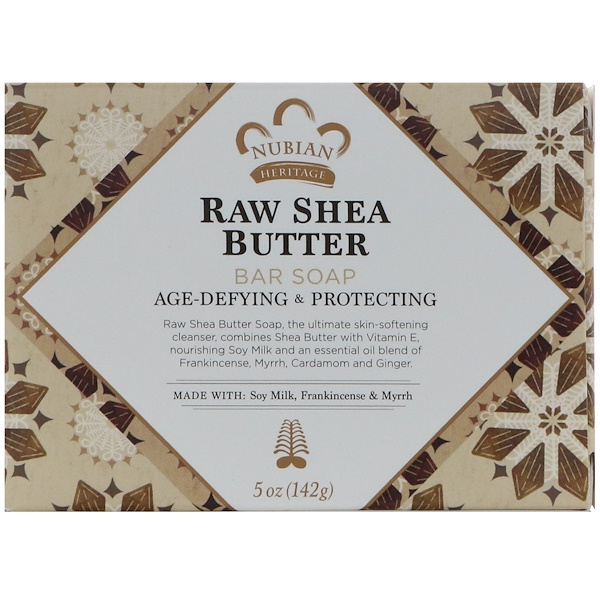 Nubian Heritage, Raw Shea Butter Bar Soap, Age-Defying & Protecting, 5 oz (142 g)