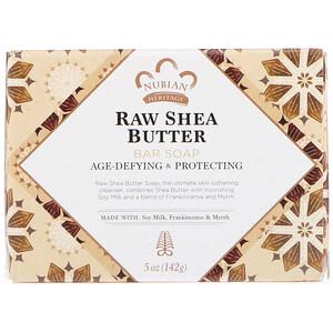 Нубиан Херитадж, Raw Shea Butter Bar Soap, 5 oz (142 g) отзывы покупателей