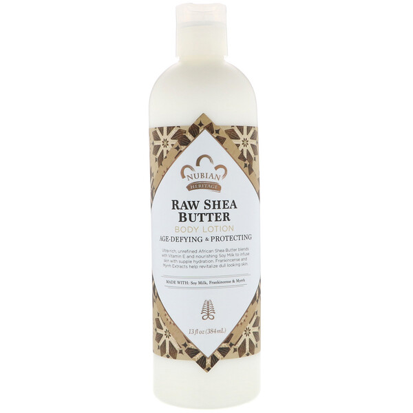 Body Lotion, Raw Shea Butter, 13 fl oz (384 ml)