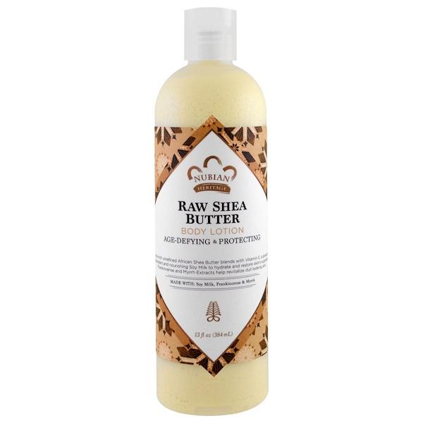 Nubian Heritage, Body Lotion, Raw Shea Butter, 13 fl oz (384 ml)