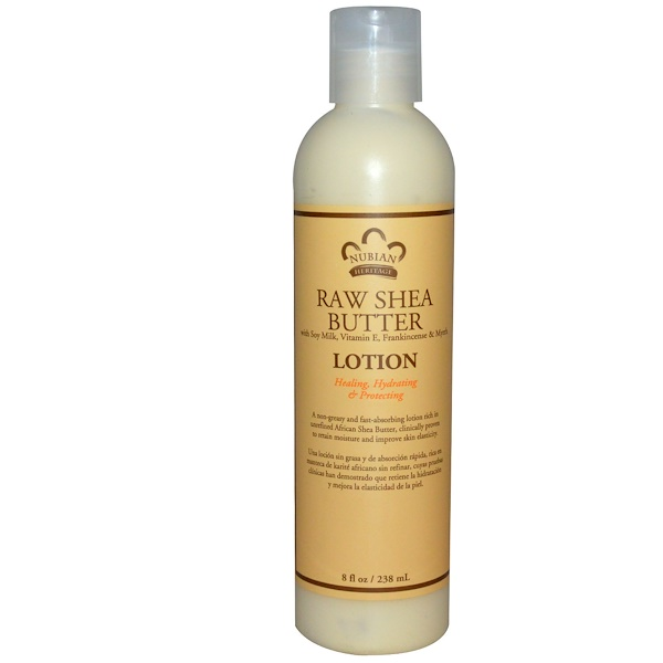 Nubian Heritage, Lotion, Raw Shea Butter, 8 fl oz (238 ml) (Discontinued Item)