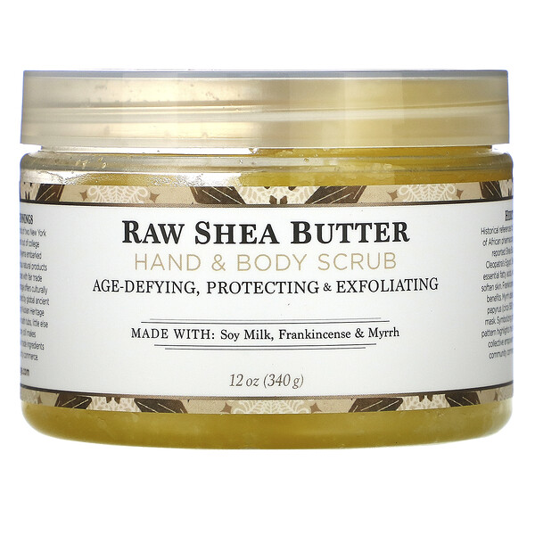 Raw Shea Butter, Hand & Body Scrub, 12 oz (340 g)