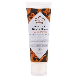 Nubian Heritage, Hand Cream, African Black Soap, 4 fl oz (118 ml)