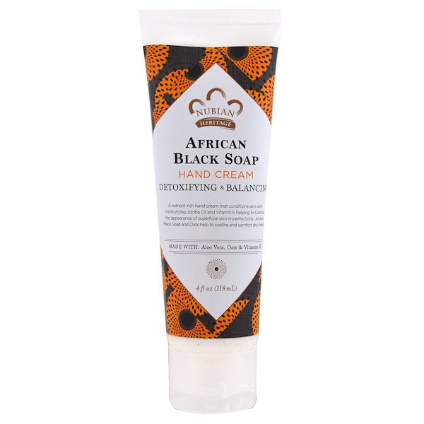 Nubian Heritage, Крем для рук African Black Soap, 4 унции (118 мл)