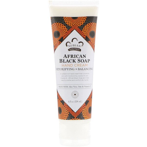 Nubian Heritage, Крем для рук African Black Soap, 4 унции (118 мл) (Discontinued Item)