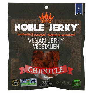 Noble Jerky, Vegan Jerky, Chipotle, 2.47 oz (70 g)
