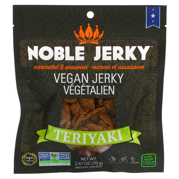 Vegan Jerky, Teriyaki, 2.47 oz (70 g)
