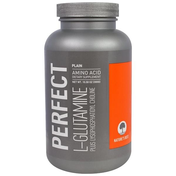 保健品氨基酸L谷氨酰胺L谷氨酰胺粉:Nature's Best, IsoPure, Perfect L-Glutamine Amino Acid, Plain, 10、50 oz (300 g)