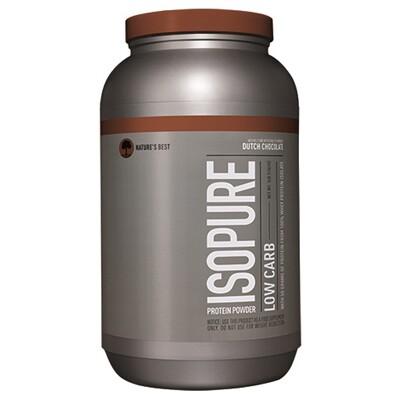 Купить Isopure Протеиновый порошок с низким содержанием углеводов, голландский шоколад, 3 фунта (1361 г)