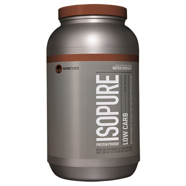 Isopure, Low Carb Protein Powder, Dutch Chocolate, 3 lb (1361 g)