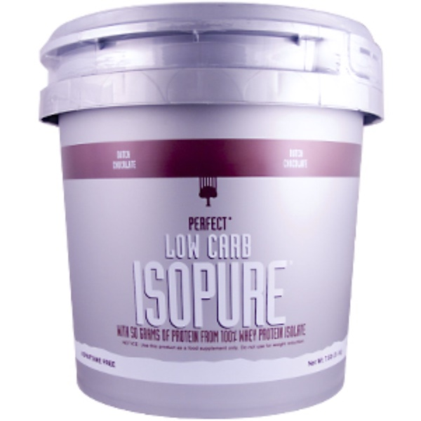 Nature's Best, IsoPure, Perfect Low Carb Isopure, Dutch Chocolate, 7.5 lb (3.4 kg) (Discontinued Item)