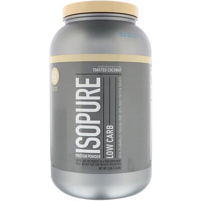 Купить Isopure Низкоуглеводный протеиновый порошок, жареный кокос, 1, 36кг (3фунта)