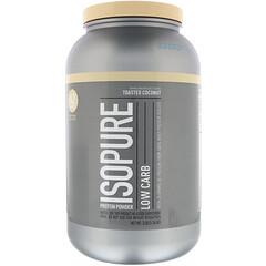 Nature's Best, IsoPure, 低碳水蛋白質粉,烤椰香,3 磅(1.36 千克)