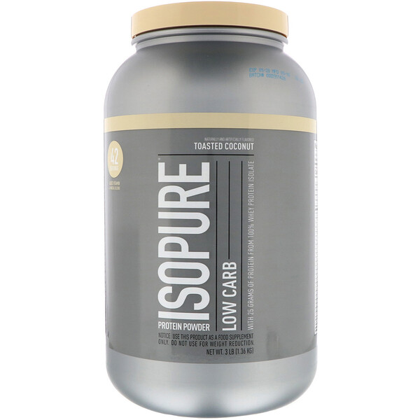 Nature's Best, IsoPure, Protein Powder, Low Carb, Toasted Coconut, 3 lb (136 kg)