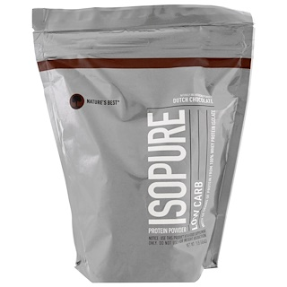 Nature's Best, IsoPure, Low Carb Protein Powder, Dutch Chocolate, 1 lb (454 g)