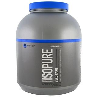 Nature's Best, IsoPure, IsoPure, белковый порошок, ноль углеводов, сливочная ваниль, 4,5 фунта (2,04 кг)