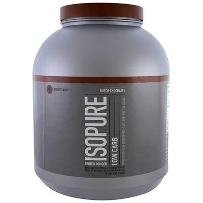 Купить Isopure Низкоуглеводный протеиновый порошок, датский шоколад, 2, 04кг (4, 5фунта)