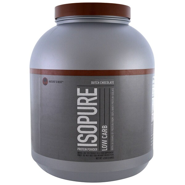 Isopure, Low Carb Protein Powder, Dutch Chocolate, 4.5 lbs (2.04 kg)