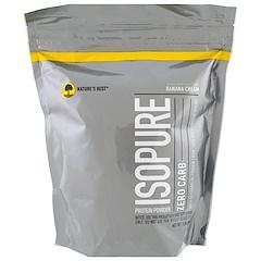 Nature's Best, IsoPure, IsoPure, Protein Powder, Zero Carb, Banana Cream, 1 lb (454 g)