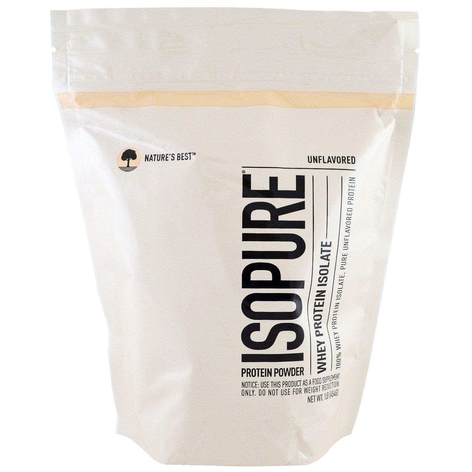 Nature's Best, IsoPure, IsoPure, изолят сывороточного протеина, протеиновый порошок, без ароматизаторов, 1 фунт (454 г)