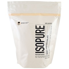 Nature's Best, IsoPure, Whey Protein Isolate, Protein Powder, Unflavored, 1 lb (454 g)