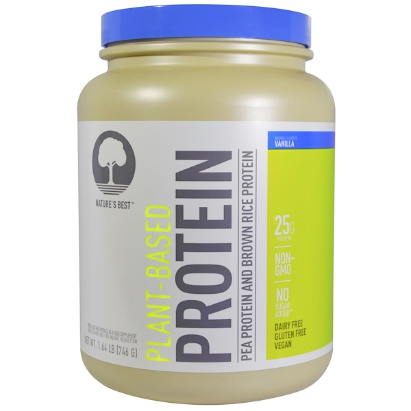 Isopure, Plant-Based Protein, Pea Protein and Brown Rice Protein, Vanilla, 1.64 lb (746 g) (Discontinued Item)