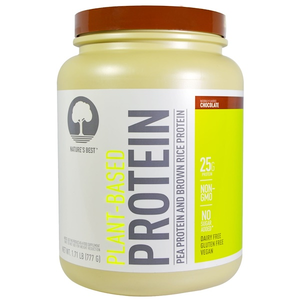 Isopure, Plant Based Protein, Pea Protein and Brown Rice Protein, Chocolate, 1.71 lb (777 g) (Discontinued Item)