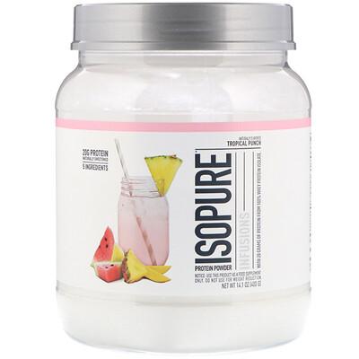 Isopure Протеиновый порошок Infusions, тропический пунш, 400г