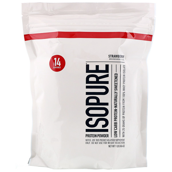 Nature's Best, IsoPure, Low Carb Protein Powder, Strawberry, 1 lb (454 g)
