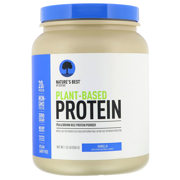 Isopure, Nature's Best,  Plant-Based Protein, Vanilla, 1.23 lb (558 g) (Discontinued Item)