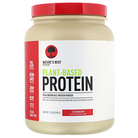 Nature's Best, IsoPure, Plant-Based Protein, Strawberry, 1.23 lb (558 g)