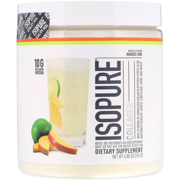 Isopure, Collagen, Mango Lime, 6.88 oz (195 g)