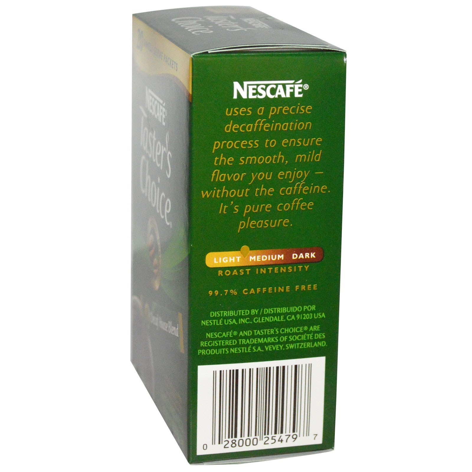 Nescafé, Taster\'s Choice café instantáneo, Decaf House Blend, 20 ...