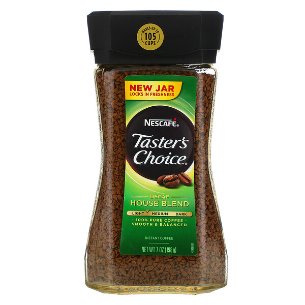 Nescafé, Taster's Choice, Instant Coffee, Decaf House Blend, 7 oz (198 g)