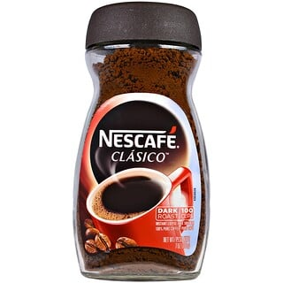 Nescafé, Clasico, Pure Instant Coffee, Dark Roast, 7 oz (200 g)