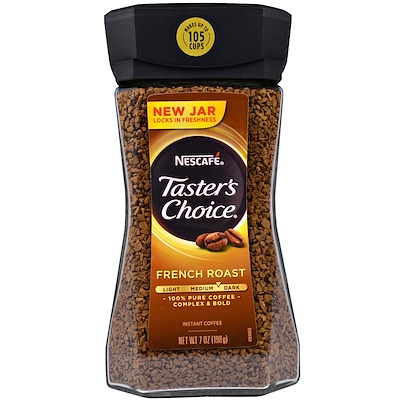Taster's Choice, Instant Coffee, French Roast, 7 oz (198 g) Тестер Чойс, растворимый кофе, французской обжарки, 7 унций (198 грамм) sports aakg pure powder 7 oz 198 g