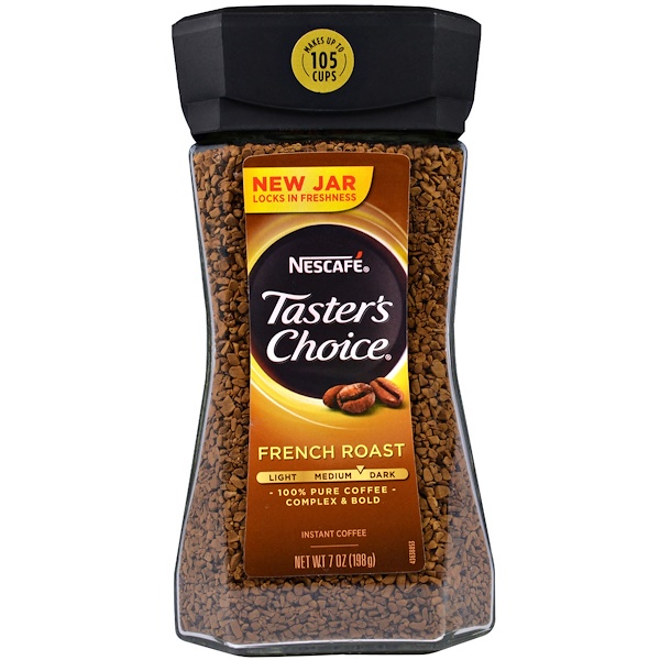 Taster's Choice, Instant Coffee, French Roast, 7 oz (198 g)