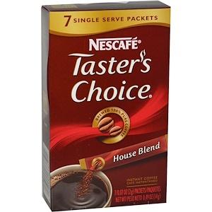 Нескафе, Taster's Choice, Instant Coffee, House Blend, 7 Packets, 0.07 oz (2 g) Each отзывы покупателей