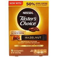 Выбор Гурмана, напиток из растворимого кофе, фундук, 16 упаковок по 3г каждый. - фото