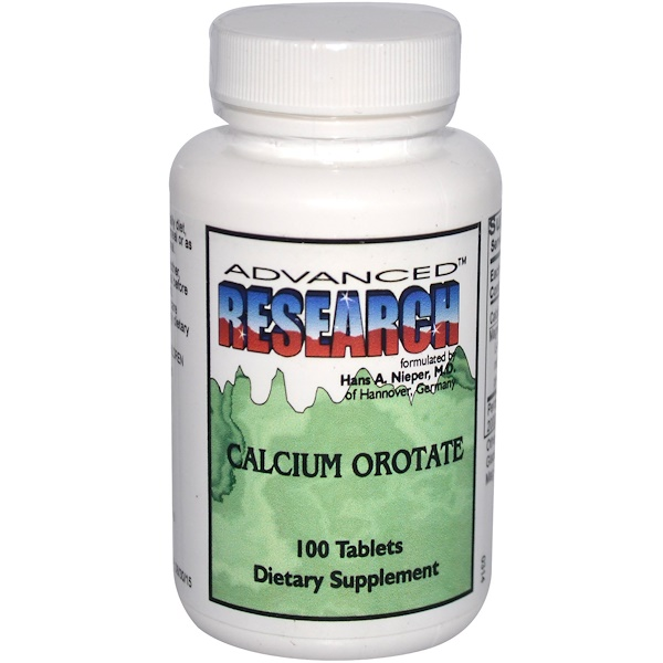 Nutrient Carriers Incorporated, Advanced Research, Calcium Orotate, 100 Tablets (Discontinued Item)