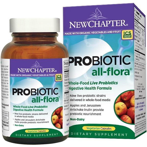 New Chapter, Probiotic All-Flora, 60 Veggie Caps (Discontinued Item)